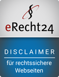 Bild: eRecht24 Siegel Disclaimer